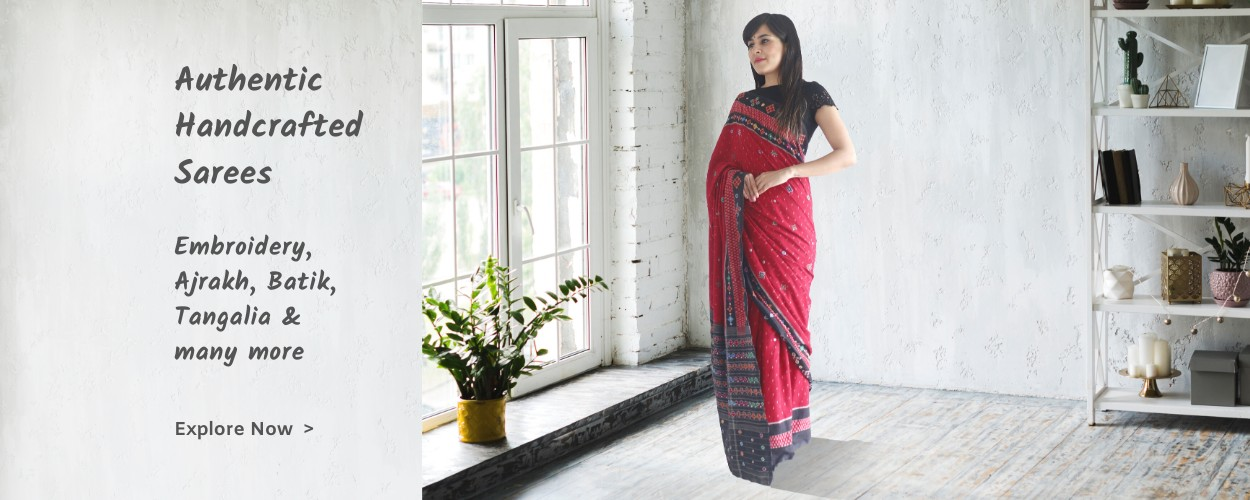 online authentic indian handloom and hand block print embroidery sarees on megastores