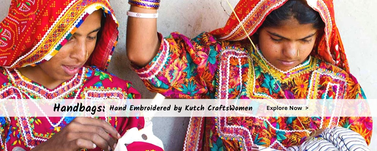 online hand embroidered handmade hand bags on megastores sustainable fashion