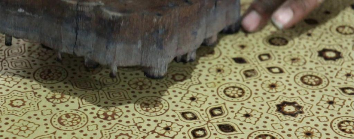 AJRAKH AN EXCLUSIVE BLOCK PRINTING TECHNIQUE THAT DEPICTS THE SOUL OF THE UNIVERSE ON A PIECE OF CLOTH